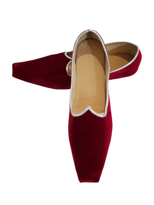 Maroon Velvet Shoes