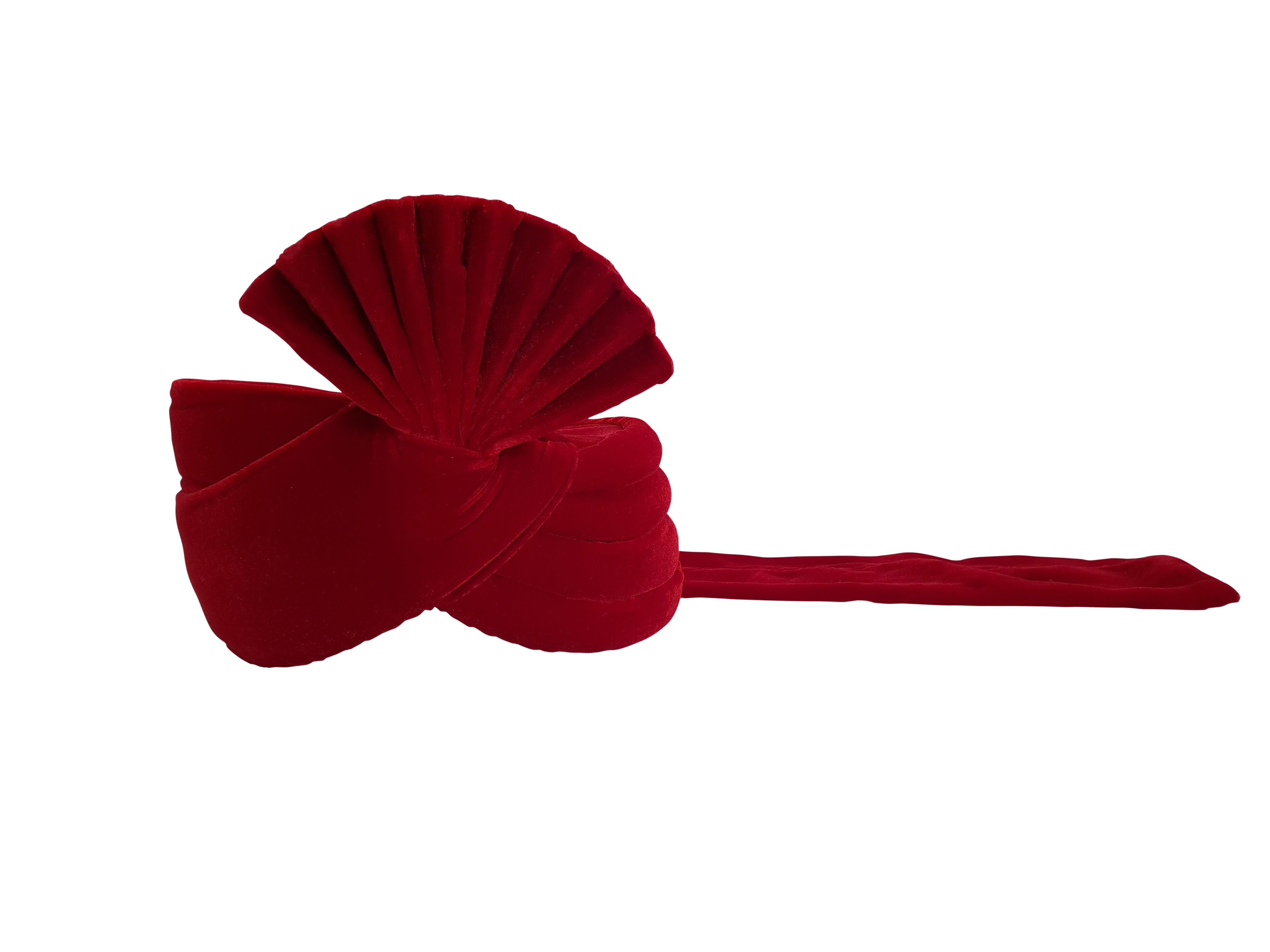 Dark Red Velvet Turban (Plain)