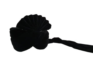 Black Velvet Turban (Plain)