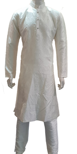Stone Button Brocade Kurta