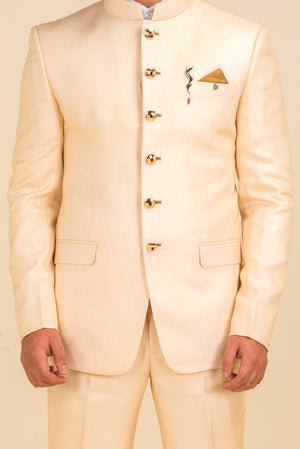 Cream Raw Silk Jodhpuri