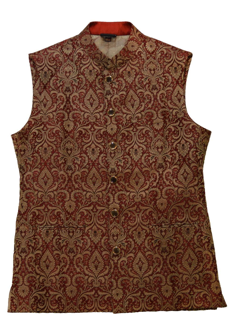 Red and Gold Brocade Waistcoat
