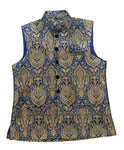 Royal Blue and Gold Waistcoat