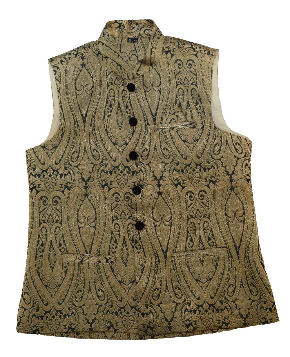 Forest Green and Gold Waistcoat