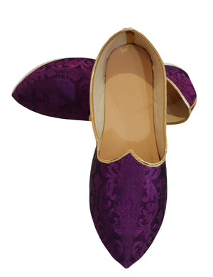 Purple Brocade Printed Shoes