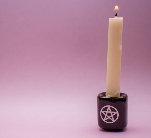 Pentacle Chime Candle Holder