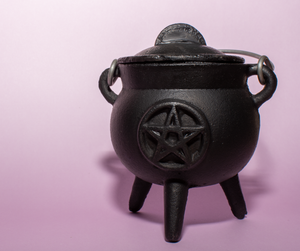 "3"" Cast Iron Pentacle Cauldron"