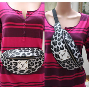 Leopard Fanny Pack, Waist Pack, Chest pack, LV
