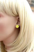 Neon Leather Earrings, Fluorescent Earrings, Black Light Earrings