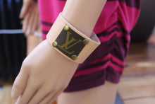 Leather Bracelet, Monogram bracelet