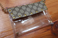 Small Cross-body Clear Purse, Upcycled Gucci Stadium Purse