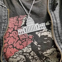 US Capitol Necklace, Washington DC Necklace, Acrylic Necklace, Statement