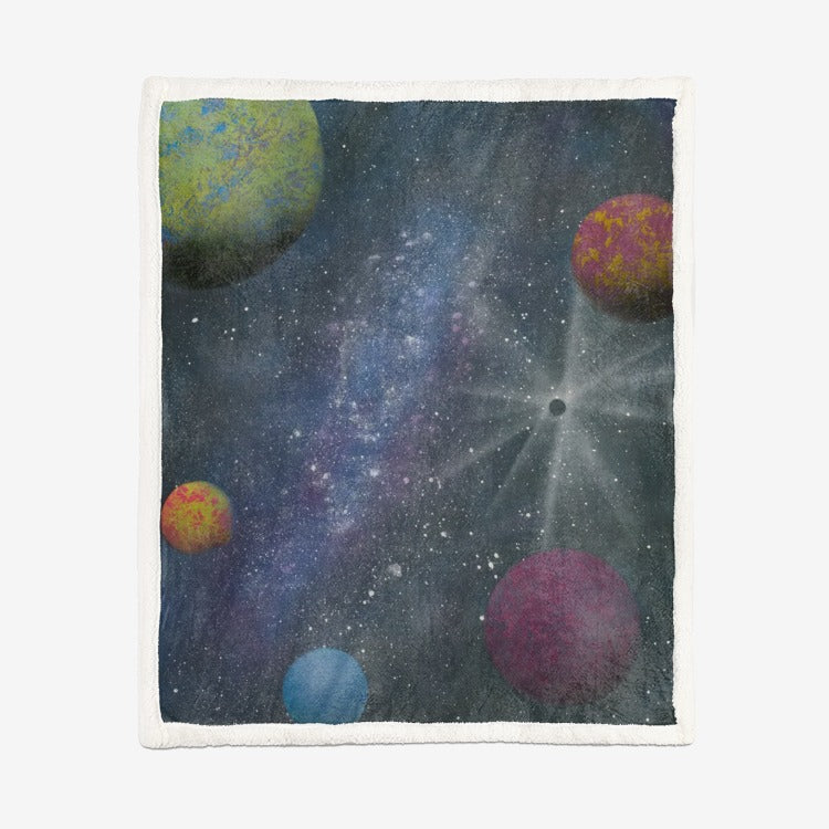 Galaxy by Parr Josephee Double-Sided Super Soft Plush Blanket