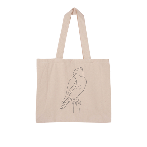 Red Tail Hawk by Parr Josephee Large Organic Tote Bag