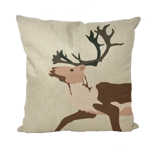 Tuktu by Alexander Angnaluak Throw Pillows