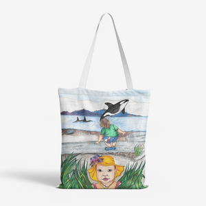 Whale Watching by Lynn Hughan Canvas Tote Bag