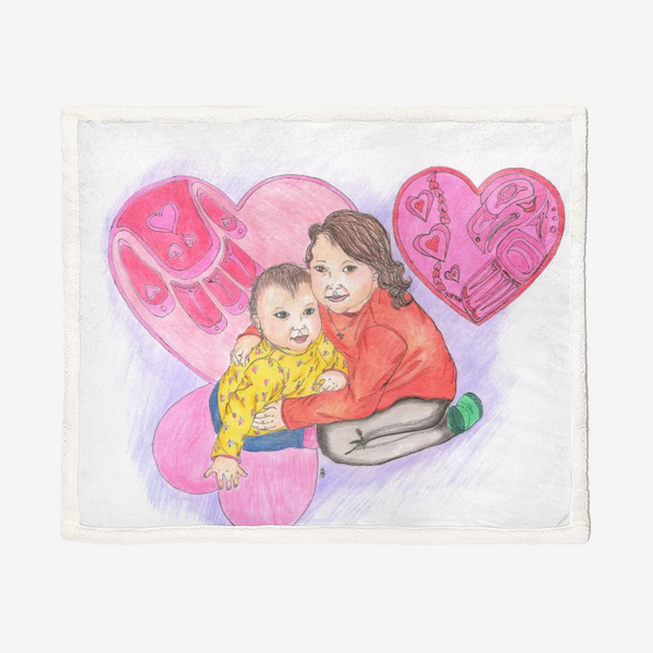 Hugs by Lynn Hughan Supersoft Plush Blanket