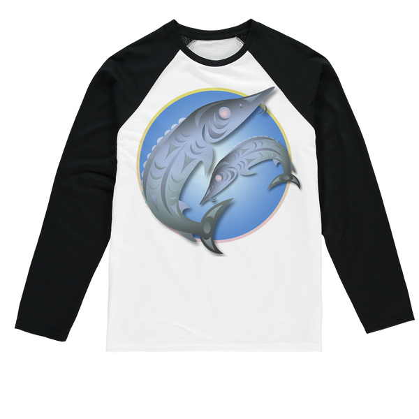 Sturgeon by Ovila Mailhot Sublimation Baseball Long Sleeve T-Shirt