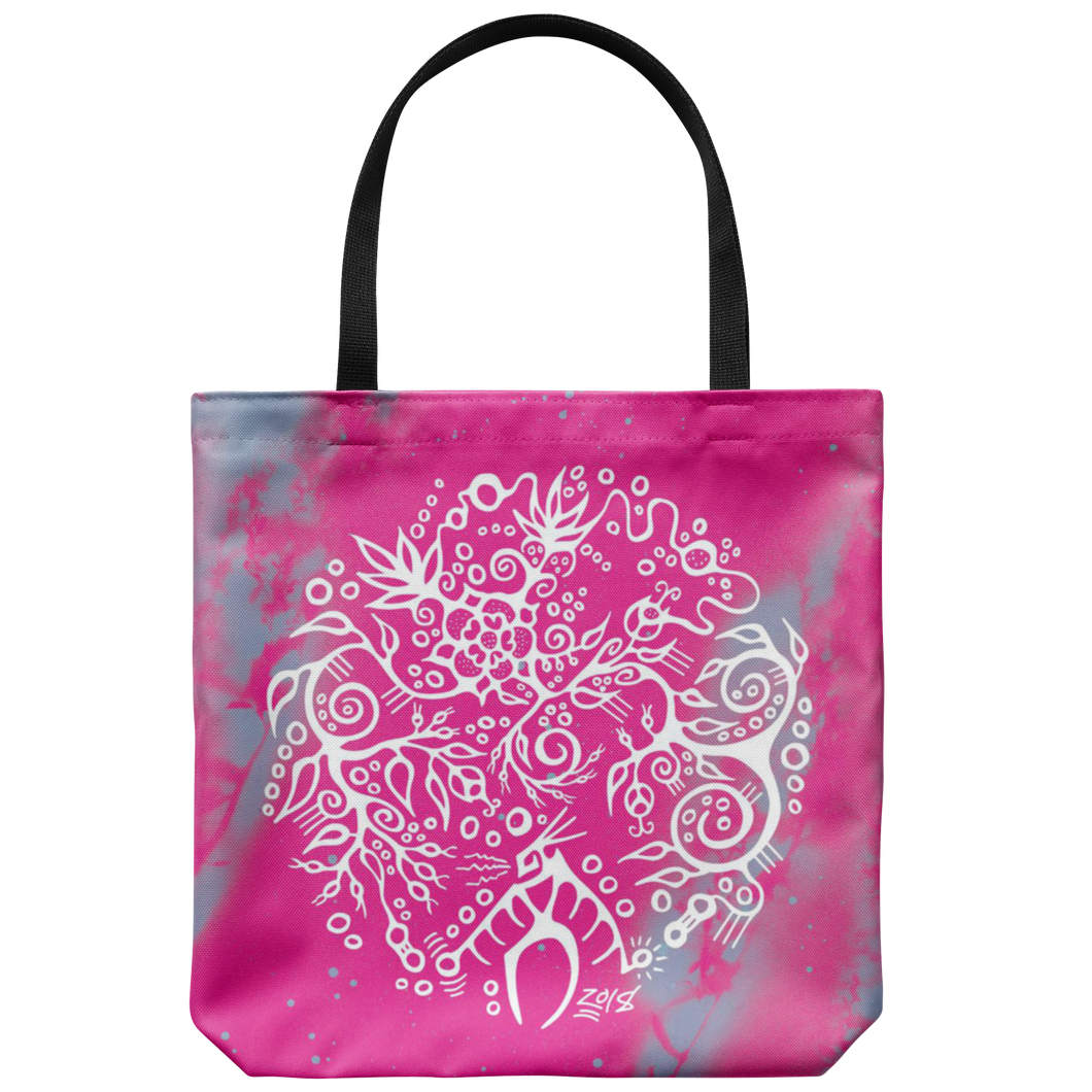 Wild Rose & Rose Hips Tote Bag by Miigizi