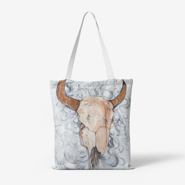 Smudge Poem by Kevin Wesaquate Canvas Tote Bag