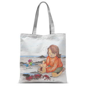 Day at the Beach by Lynn Hughan Classic Sublimation Tote Bag