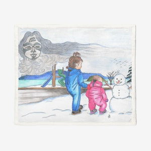Snow Spirit by Lynn Hughan Double-Sided Supersoft Plush Blanket