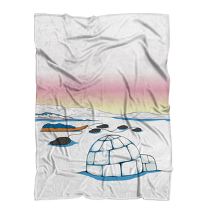 Igloo by Alexander Angnaluak Premium Sublimation Adult Blanket