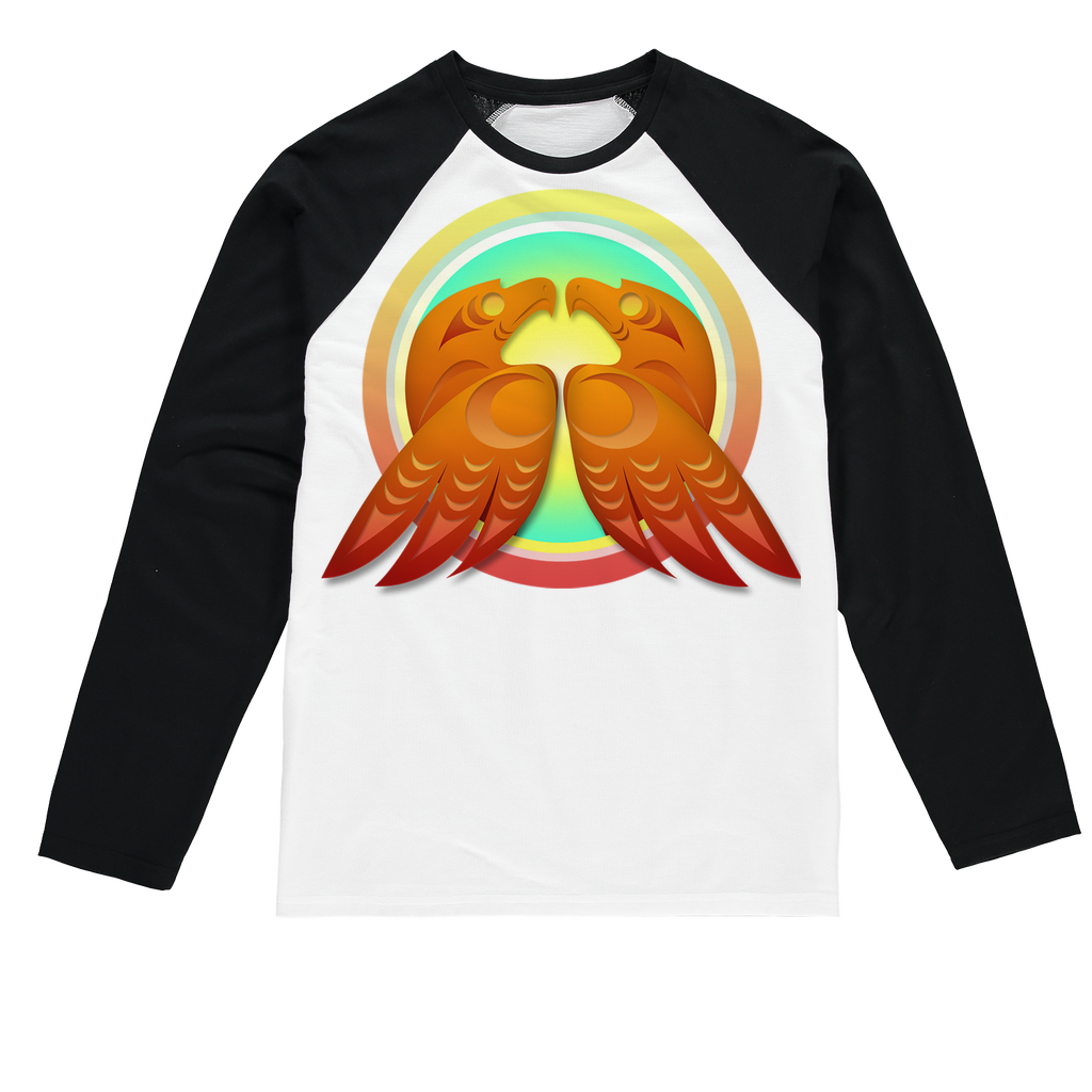 Hawk (Square) by Ovila Mailhot Sublimation Baseball Long Sleeve T-Shirt