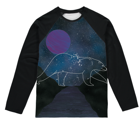 Polar Bear by Parr Josephee Sublimation Baseball Long Sleeve T-Shirt
