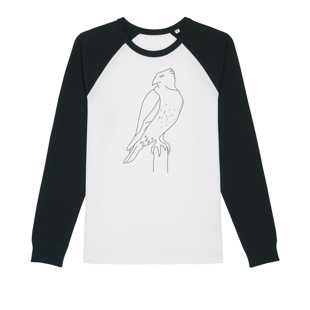 Red Tail Hawk by Parr Josephee Organic Raglan Long Sleeve Shirt