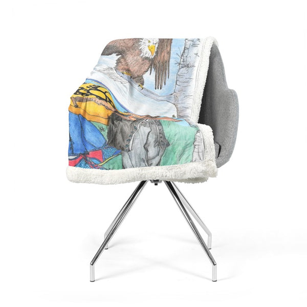 Learning to Drum by Lynn Hughan Double-Sided Super Soft Plush Blanket
