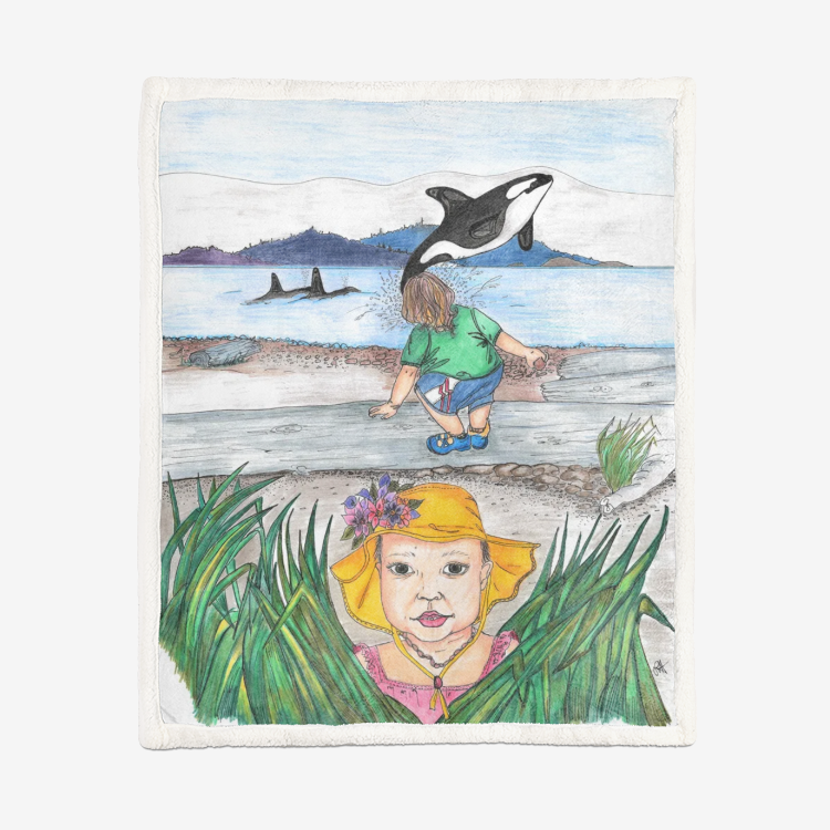 Whale Watching by Lynn Hughan Supersoft Blanket