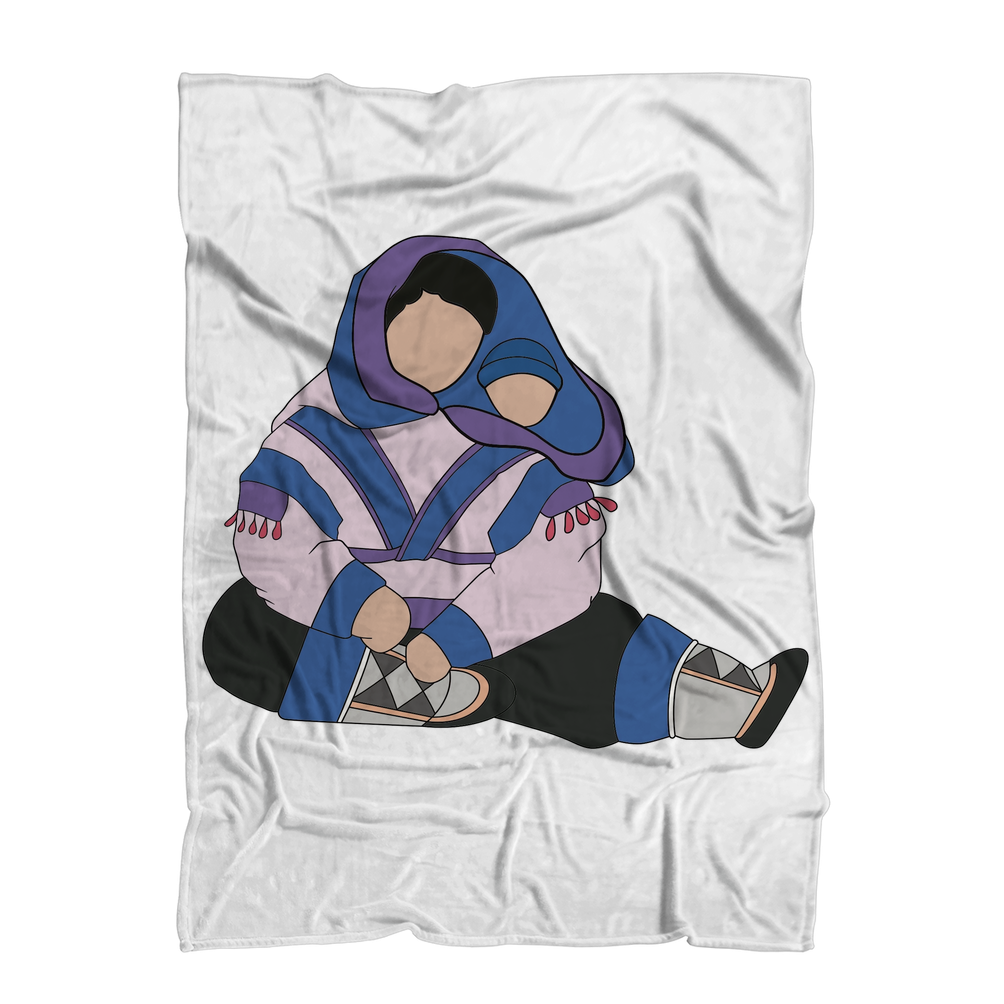 Mother & Child by Alexander Angnaluak Premium Sublimation Adult Blanket