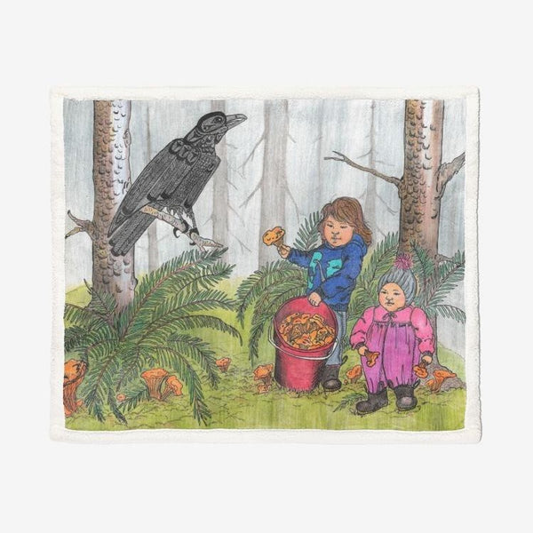 Forest Friendship by Lynn Hughan Super Soft Plush Blanket