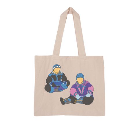 Inuit by Alexander Angnaluak Large Organic Tote Bag