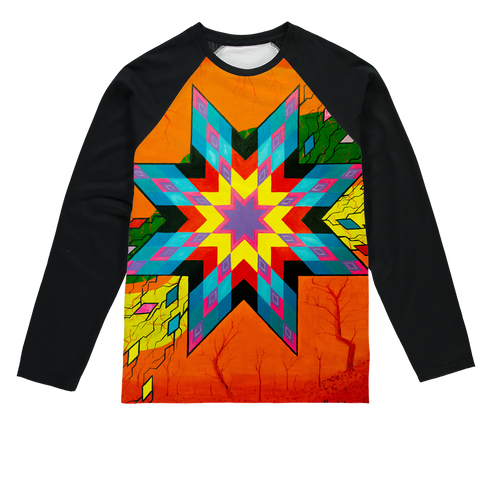 Dream Collection by Kevin Wesaquate Sublimation Baseball Long Sleeve T-Shirt