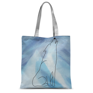Winter Wolf by Parr Josephee Classic Sublimation Tote Bag