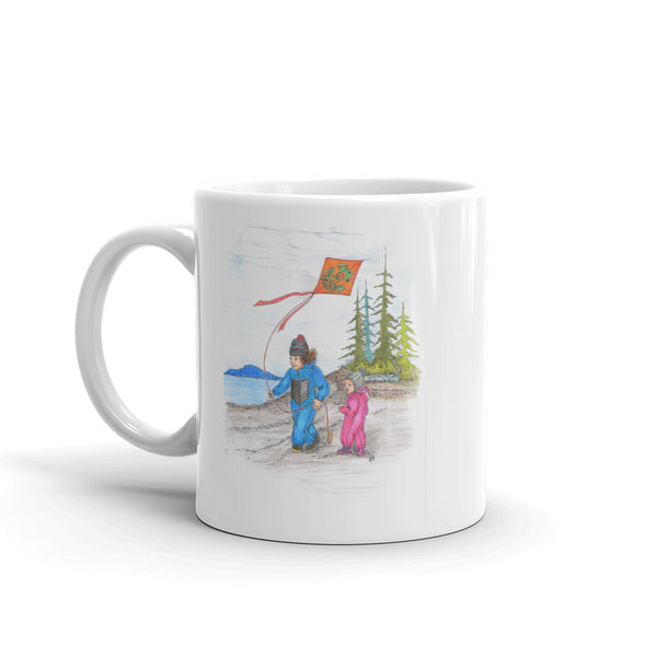 Kite Flying by Lynn Hughan Mug
