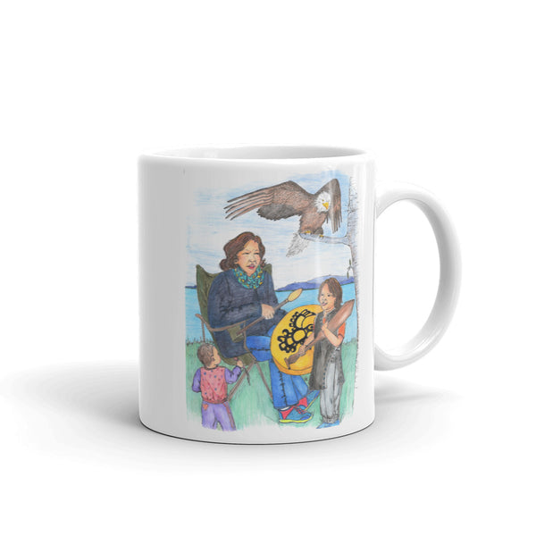 Learning to Drum by Lynn Hughan Mug