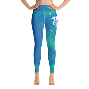 Blue Jay Yoga Leggings by Miigizi