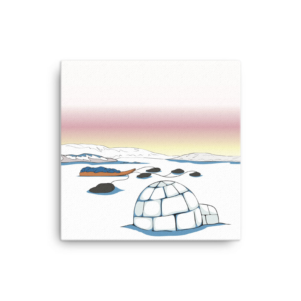 Igloo by Alexander Angnaluak Canvas Print