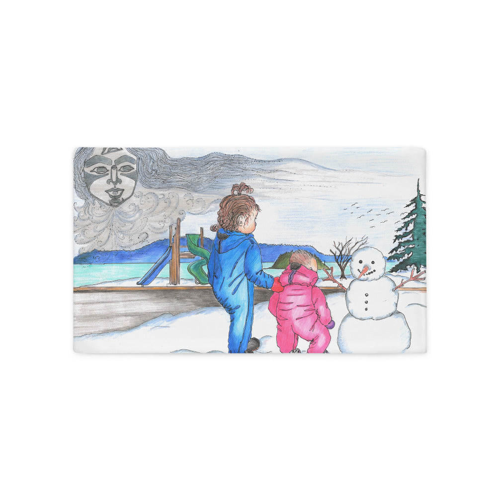 Snow Spirit by Lynn Hughan 20x12 Pillow Case