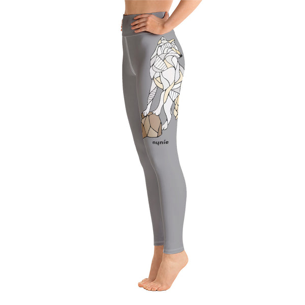 Wolf Yoga Leggings by Nicole Josie