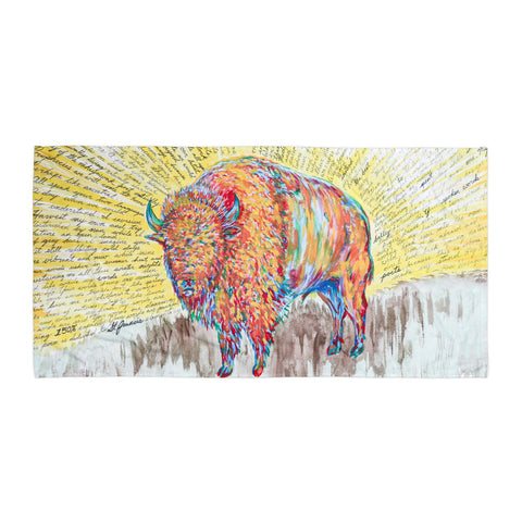 Sunlight Bison Towel by Kevin Wesaquate
