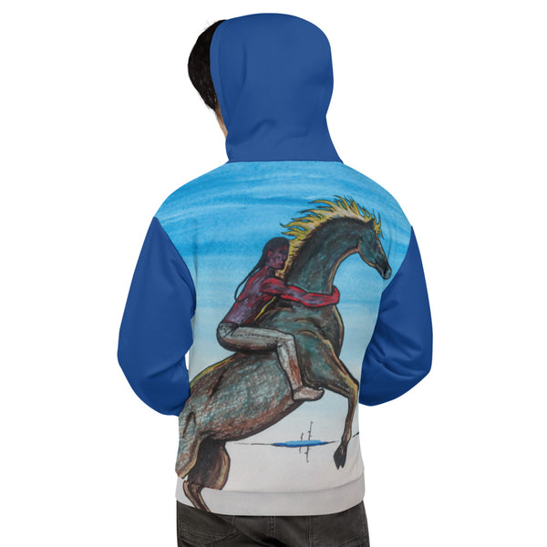 Rider All-Over Unisex Hoodie by Kevin Wesaquate