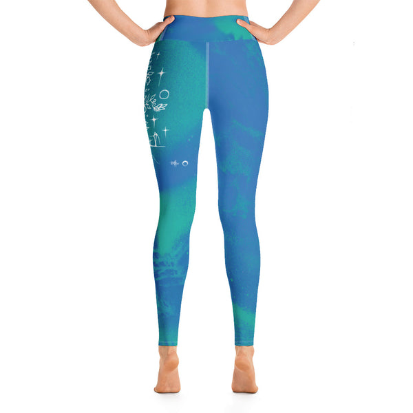 Wild Blueberry Yoga Leggings by Miigizi