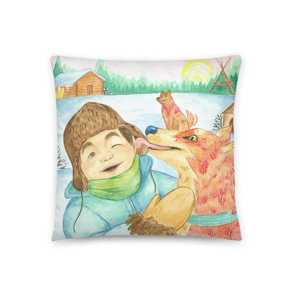 Friendly Fox Pillow by Cynthia Landry
