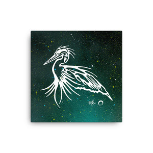 Blue Heron Canvas Print by Miigizi