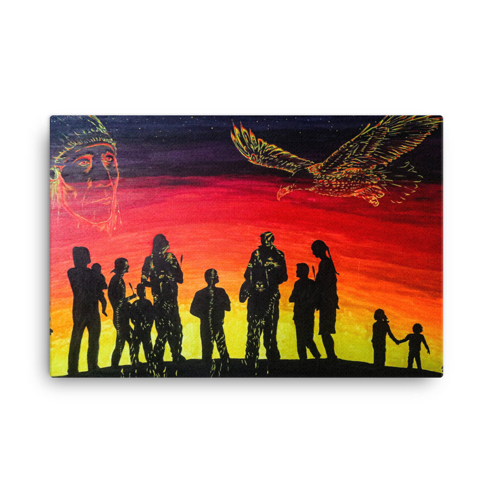 Longwalkers' by Kevin Wesaquate Canvas Print