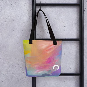 Swirl Paint Splash Tote Bag
